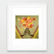 In My World, Flowers Com… Framed Art Print