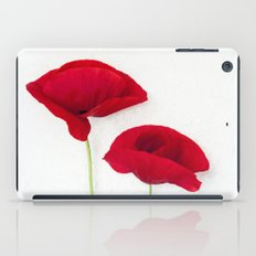 Two Red Poppies iPad Case