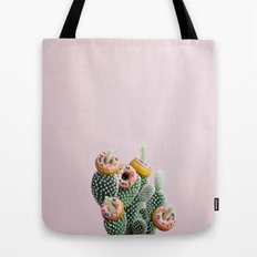 Donut Cactus In Bloom Tote Bag