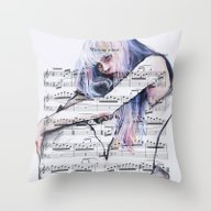 Waiting Place On Music S… Throw Pillow