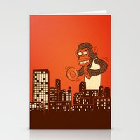 monkey on your back Stationery Cards
