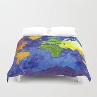 The World Duvet Cover