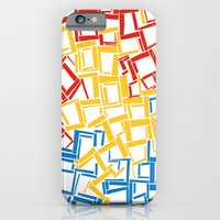 rectangles in primary colours iPhone 6 Slim Case