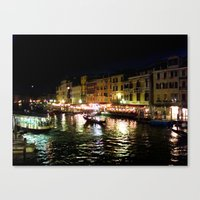 A night at the Grand Canal Canvas Print