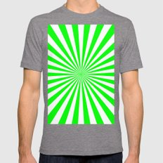 Starburst (Green/White) Mens Fitted Tee Tri-Grey SMALL