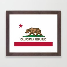 California Republic state flag - Authentic Version Framed Art Print