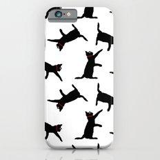 Cats-Black on White Slim Case iPhone 6s