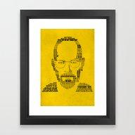 Framed Art Print featuring Breaking Bad:  Walter Wh… by Luke Eckstein