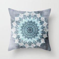 BOHOCHIC MANDALA IN BLUE Throw Pillow