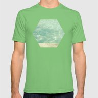 Morning Swim Mens Fitted Tee Grass SMALL
