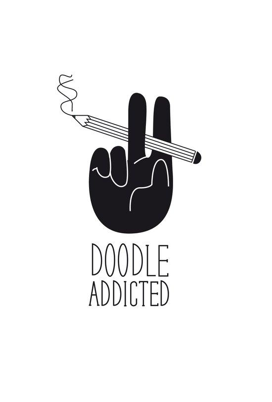 doodle addicted Art Print