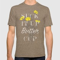 Suck It Up Buttercup Mens Fitted Tee Tri-Coffee SMALL