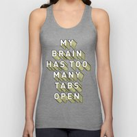 My Brain Has Too Many Tabs Open - Typography Design Unisex Tank Top
