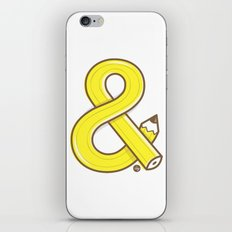 Ampersand pencil iPhone & iPod Skin
