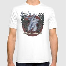 My Deer Friend / Version 2 Mens Fitted Tee White SMALL
