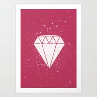 Space Diamond  Art Print