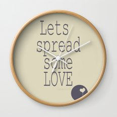 Spread Some LOVE Wall Clock