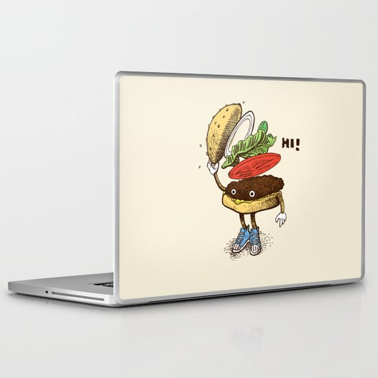 Burger Greeting Laptop & iPad Skin