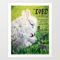 The Lord Restores Psalm … Art Print