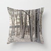 Snow Oak Throw Pillow