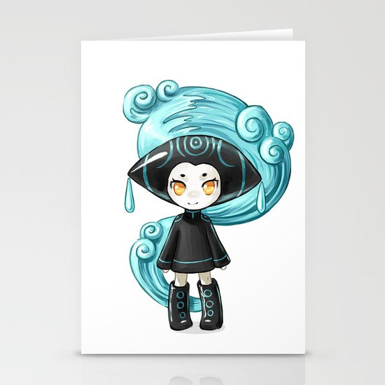 Water Sprite Stationery Card