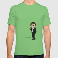 Roman Chibi Mens Fitted Tee Grass SMALL
