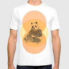 saving panda SMALL White Mens Fitted Tee