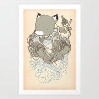 Foxglove Art Print