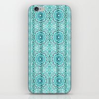Minty Mandalas iPhone & iPod Skin
