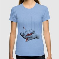 Lady in Red Womens Fitted Tee Athletic Blue SMALL