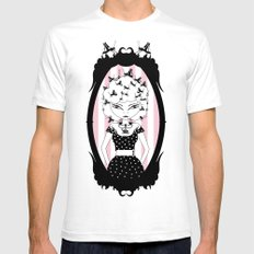 Lady CriCri SMALL White Mens Fitted Tee