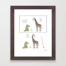 Biggest Straw  Framed Art Print