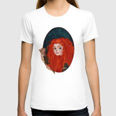 Merida From Brave Womens Fitted Tee White SMALL