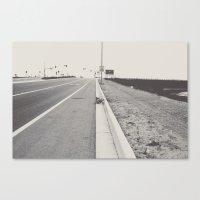 Boring Postcard Canvas Print