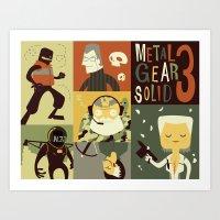 Metal Gear Solid: Snake Eaters Art Print