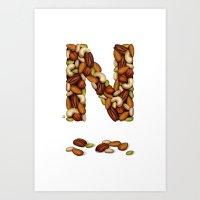 N Is For Nuts Art Print