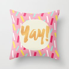 Yay Confetti Throw Pillow