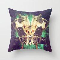 Galactic Cats Saga 1 Throw Pillow
