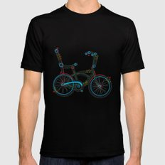 Aztec Bicycle SMALL Black Mens Fitted Tee