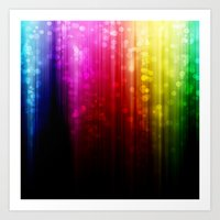 Rainbow Rain. Art Print