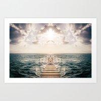 Kaleidoscape: Caye Caulk… Art Print