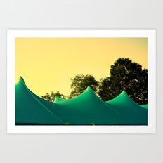 Tent Top, Mt. Vernon Art Print