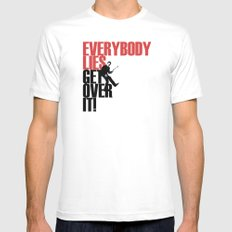 Everybody Lies White SMALL Mens Fitted Tee