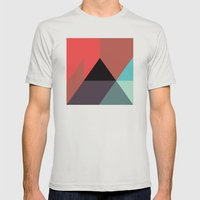 Black Triangle & Reds Mens Fitted Tee Silver SMALL