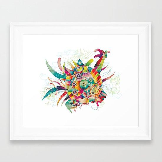 Le baiser de Ra Framed Art Print