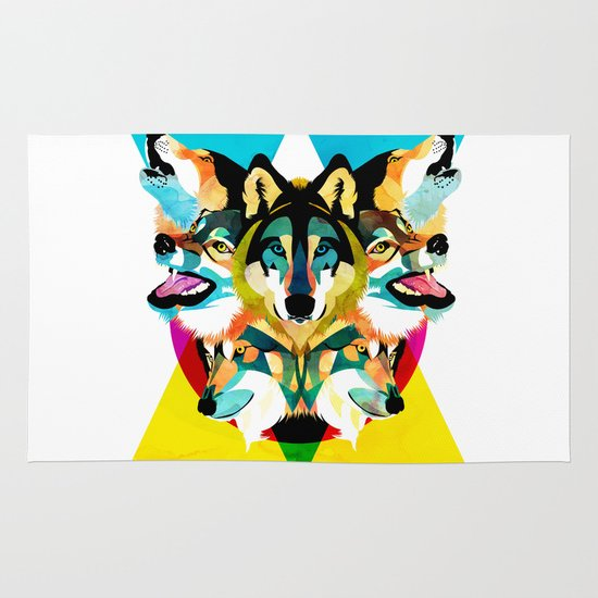 wolves Area & Throw Rug