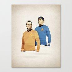 Polygon Heroes - Star Trek O.G. Canvas Print
