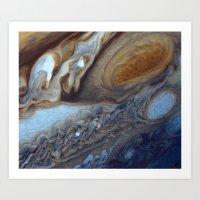 Jupiter The Great Red Spot  Art Print