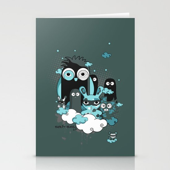 Nocturnal Friends Stationery Card
