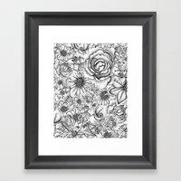 B&W Flowers  Framed Art Print